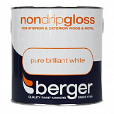 Berger Non Drip Gloss 2.5L Pure Brilliant White