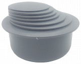 Grey Colour Gutter Down Pipe Downpipe Downspout Reducer 110mm to Any Size Reduction Guttering Fittings