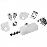 ERA 807-12 Multi Purpose Door Bolt With Cut Key White