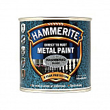 Hammerite HFBL25L Direct To Rust Hammered Finish Metal Paint Black 2.5 Litre