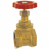 "1"" Inch BSP Strong Brass Sluice Gate Valve Water Stop with Red Head Handle"