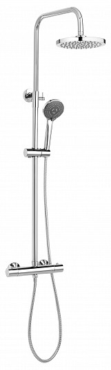 Bathroom Set Showering Column Thermostatic Shower Mixer Pole Chrome Plated Steel