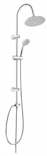 Comfortable Shower Bathroom Set Column with Movable Round Rainfall Water Head