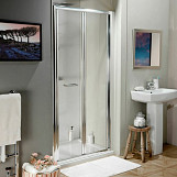 Eastgate 800 Bi-Fold Shower Door 1850mm H x 745mm - 800mm W - Chrome