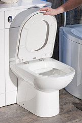 Eastgate D Shape Soft Close Toilet Seat with Quick Release 385mm W - White