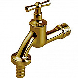 "1/2"" Inch BSP Garden Tap Brass/Chrome Plated Outdoor Valve Nice Looking"