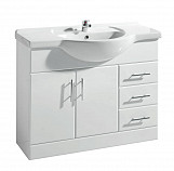 Eastgate Basin Unit 800mm H x 1050mm W - High Gloss White