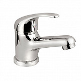 Bathroom basin mixer tap chrome-plated + sink click clack waste + install set