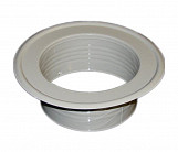 Metal Ventilation Ducting Pipe Wall Plate Spigot White 100mm Diameter