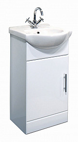 Eastgate Basin Unit 800mm H x 450mm W - High Gloss White