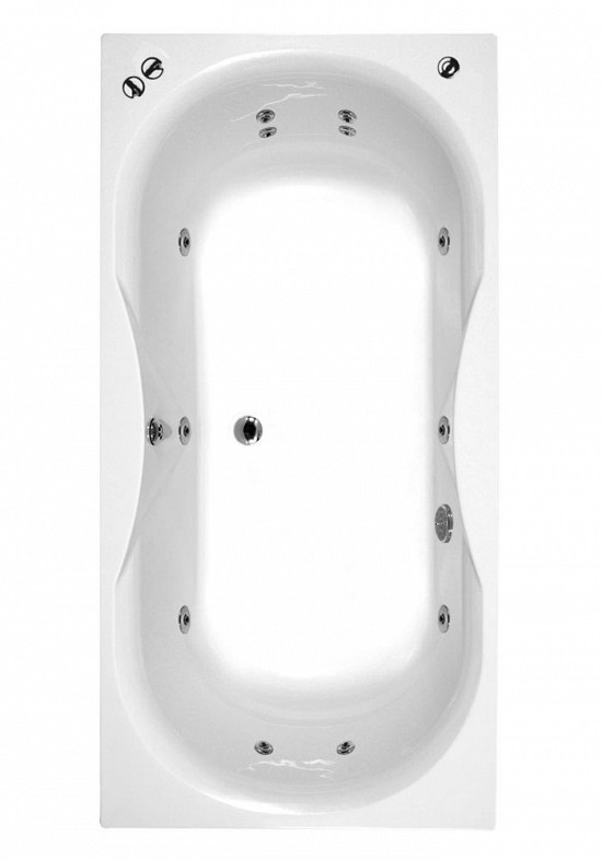 Phoenix Ibiza System 1 Amanzonite/Acrylic Double Ended Whirlpool Bath 1800mm x 800mm