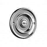 Byron 2207/P1BC Round Wired Bell Push Flush Fit Chrome
