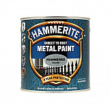 Hammerite HFSG25L Direct To Rust Hammered Finish Metal Paint Silver 2.5 Litre