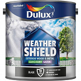 Dulux Weathershield Quickdry Satin 2.5L Black