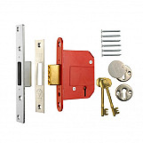 ERA 261-62 Fortress British Standard Mortice Deadlock 5 Lever 67mm Chrome Plated