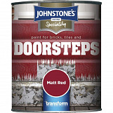 Johnstone's Paint Brick,Tile & Step Paint 750ml Matt Red Matt Red