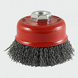 Addax 100TCC Threaded Cup Brush Crimp 100mm