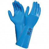 Ansell AN37-210L Versatouch Lightweight Nitrile Gauntlet Gloves Size 9 Large