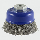 Addax 100TCCSS Threaded Cup Brush Crimp S/S 100mm
