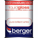 Berger Liquid Gloss 1.25L Pure Brilliant White Pure Brilliant White