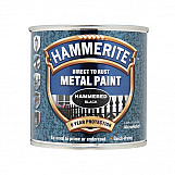 Hammerite HFBL250 Direct To Rust Hammered Finish Metal Paint Black 250ml