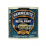 Hammerite HFGO250 Direct To Rust Hammered Finish Metal Paint Gold 250ml