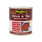 Rustins BRITW1000 Quick Dry Brick & Tile Paint Matt Red 1 Litre