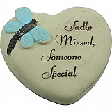 Heart Shaped Memorial Message Stone