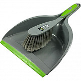 Wham Dustpan & Brush in Grey & Green