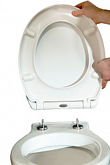 Eastgate Duroplast Soft Close Toilet Seat with Quick Release 375mm W - White