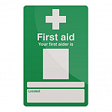 Fixman 390578 Your First Aider Sign 200 X 300mm Rigid