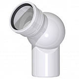 Adjustable Rotatable Universal Elbow Ball Sewage Installation 50mm Pipe Diameter