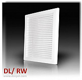 Air vent grille cover white ventilation plastic cover extended duct 170x240mm