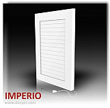 Air vent grille cover white ventilation plastic cover with shutters 140x280mm