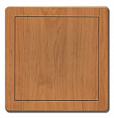 150x150mm Durable ABS Plastic Access Inspection Door Panel Alder Color