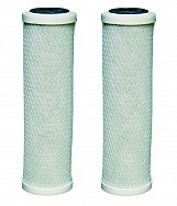 2 x carbon water filter cartridges fits all 10