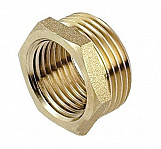 1 x 3/4 inch bsp male x female thread pipe reduction nipple union joiner fitting brass