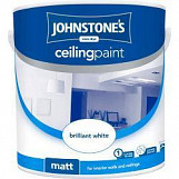 Johnstone's Paint Ceiling Paint 2.5L Brilliant White Brilliant White