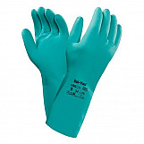 Ansell AN37-675M Solvex High Comfort Chemical Resistant Gauntlet Gloves Size 8 Medium