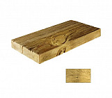Bright half plank - wood-effect concrete decorative block paving slab for garden and patio