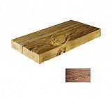 Dark half plank - wood-effect concrete decorative block paving slab for garden and patio