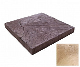 Bright square trunk - wood-effect concrete decorative block paving slab for garden and patio