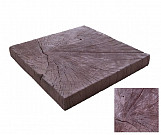 Dark square trunk - wood-effect concrete decorative block paving slab for garden and patio