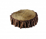 Small trunk - wood-effect concrete decorative block paving slab for garden and patio