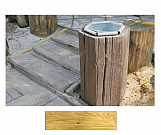 Bright basket - wood-effect concrete decorative block paving slab for garden and patio
