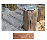 Dark basket - wood-effect concrete decorative block paving slab for garden and patio