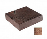 Small dark square trunk - wood-effect concrete decorative block paving slab for garden and patio