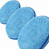 3 x Microfibre Polish Applicator Pad Kent Car Care Clean Valeting (Blue) Q9257