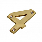 Forge FGENUM4BR75 Numeral No.4 - Brass Finish 75mm 3in
