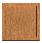 150x150mm Durable ABS Plastic Access Inspection Door Panel Oak Color